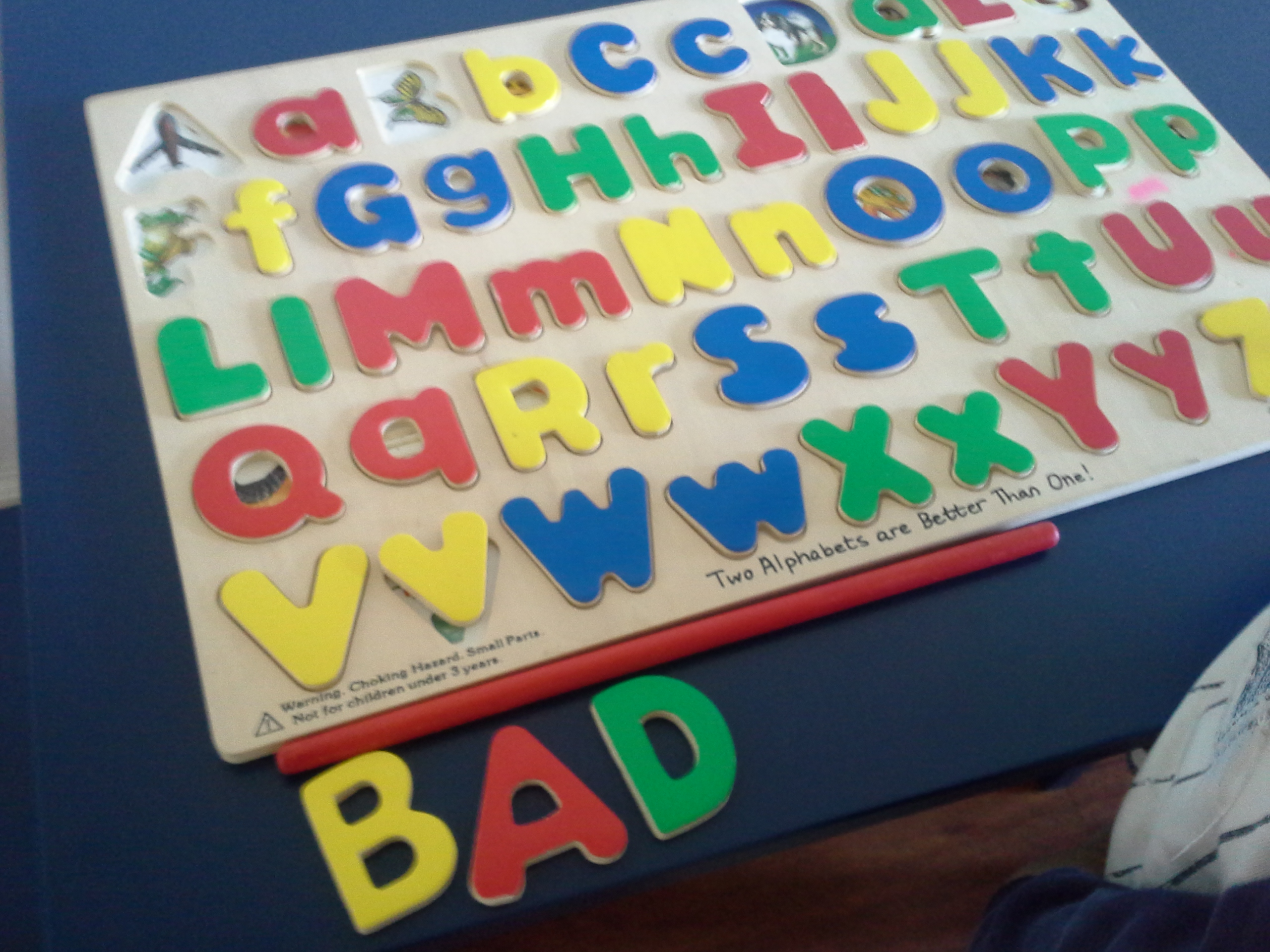 spelling with alphabet puzzle