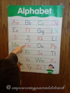 Empowering Parents to Teach: Find the letter game