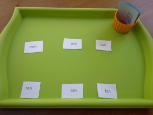 Empowering Parents to Teach- an word family matching setup