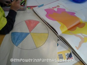 Empowering Parents to Teach- Orange on the color wheel
