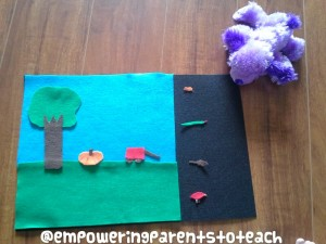 Empowering Parents To Teach- Felt scene with dog