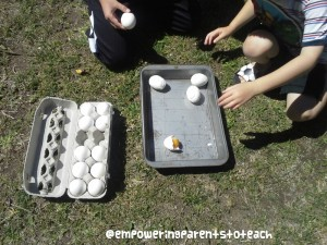Empowering Parents to Teach- Egg smashing