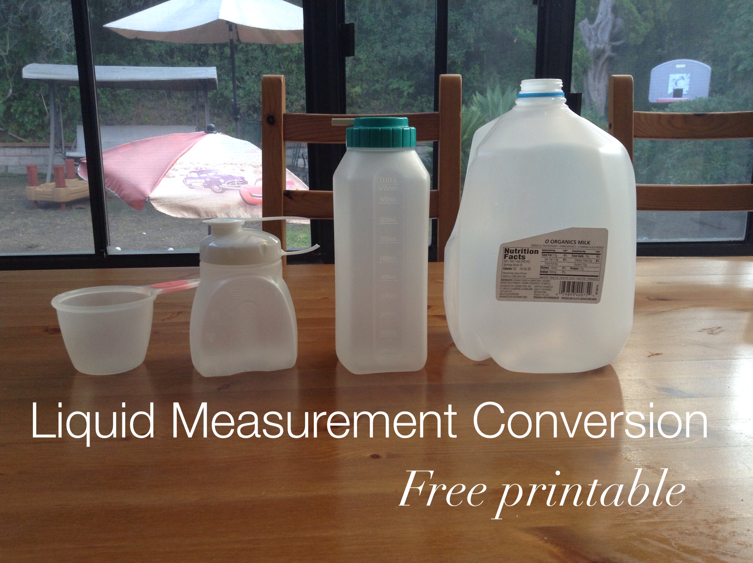 Liquid Measurements Chart | Liquid Measurement Conversion Activity Empowering Parents To Teach