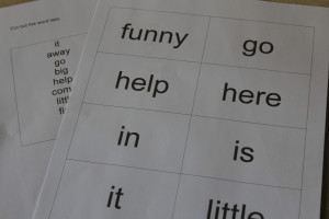 Empowering Parents to Teach- Sight Word Hide and Seek