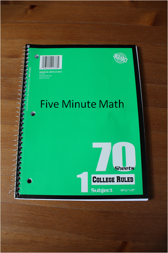 Empowering Parents To Teach- 5 Minute Math